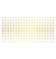 contour rhombus golden halftone array vector image