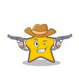 cowboy star character cartoon style vector image vector image