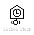 cuckoo clock icon vector image vector image
