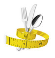 diet and lose weight concept - measuring tape vector image vector image