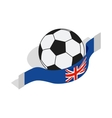 English football icon isometric 3d style vector image vector image