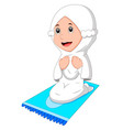 female muslim praying vector image