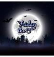 Friday the 13th message design background vector image
