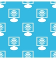 Global network monitor pattern vector image vector image