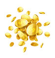 gold 3d coins vector image vector image