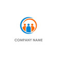 group leader people logo vector image
