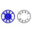 grunge best scratched stamp seals vector image vector image