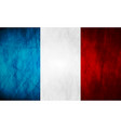 Grunge French flag vector image vector image
