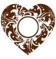 grunge valentine heart frame background vector image vector image