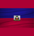haiti flag flag of haiti blowig in the wind eps vector image vector image