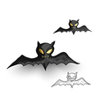 Halloween monsters spooky vampire bats isolated vector image vector image