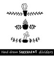 hand drawn dividers lines borders and vector image vector image