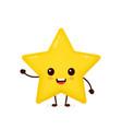 happy cute smiling funny star vector image vector image