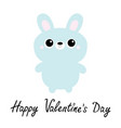 happy valentines day rabbit bunny toy icon cute vector image vector image