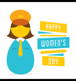 happy womens day work in women police design vector image vector image