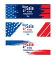 independence day of usa sale banner design vector image vector image