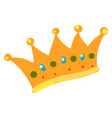 kings gold crown on white background vector image