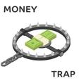 Money trap flat vector image vector image