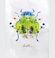 monotype colorful beetle vector image