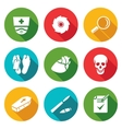 Pathologist and morgue Icons Set vector image vector image