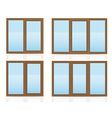 plastic window 10 vector image