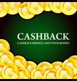 poster with gold coins cash - casino fortune and vector image vector image