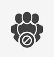 professional services icon with not allowed sign vector image vector image