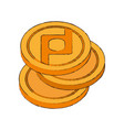 protoshare coin cryptocurrency stack icon vector image vector image