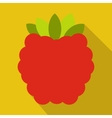 Raspberries flat icon vector image