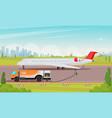 refueling passenger aircraft flat