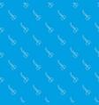 scissors pattern seamless blue vector image