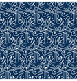 Seamless pattern for marine theme With anchorrope vector image