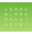 set 20 icons and sign in mono line style vector image
