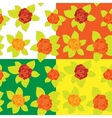 set floral seamless pattern vector image