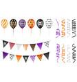 set halloween party elements vector image vector image