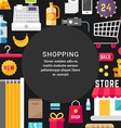 Shopping Concept Flat Style with Place for Text vector image