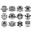 skateboarding twelve isolated emblems vector image vector image