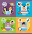 sleep disorders compositions set vector image vector image