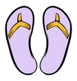 slippers icon icon cartoon vector image vector image