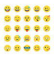 smiley flat icons collection vector image