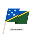 Solomon Islands Sharp Ribbon Waving Flag Isolated vector image