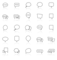 Speech Bubble line icons with reflect on white vector image vector image