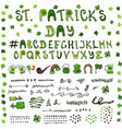 st patrick s day hand drawing full collectoin vector image vector image