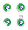 sticker planet green vector image vector image