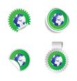 sticker planet green vector image vector image