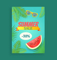 summer sale banner promotion leaflet sample vector image