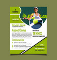 tennis camp flyer design template fully editable vector image vector image