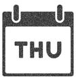 Thursday Calendar Page Grainy Texture Icon vector image vector image