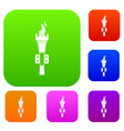 torch set collection vector image