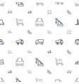 truck icons pattern seamless white background vector image vector image